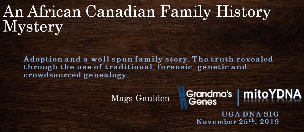 An African Canadian Family History Mystery – UGA DNA