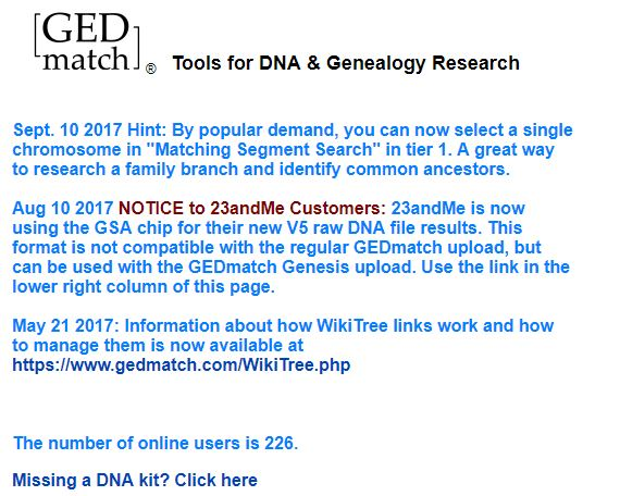 GEDmatch Notes