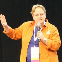 Mags Speaking at the Demo Theater, RootsTech2017